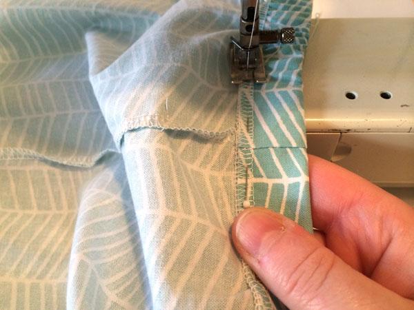 Sewing bottom of elastic