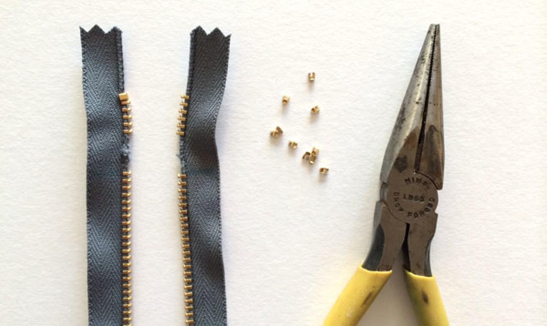 removed zipper teeth