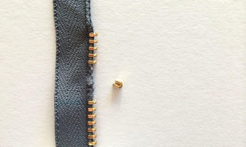 attaching zipper teeth