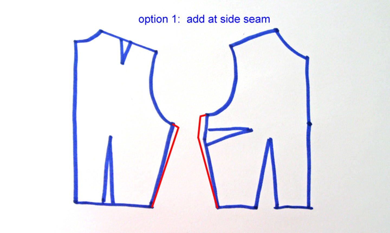 adjusting bodice for sleeve