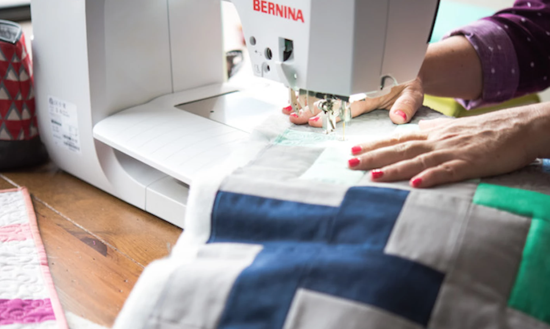 quilting on sewing machine
