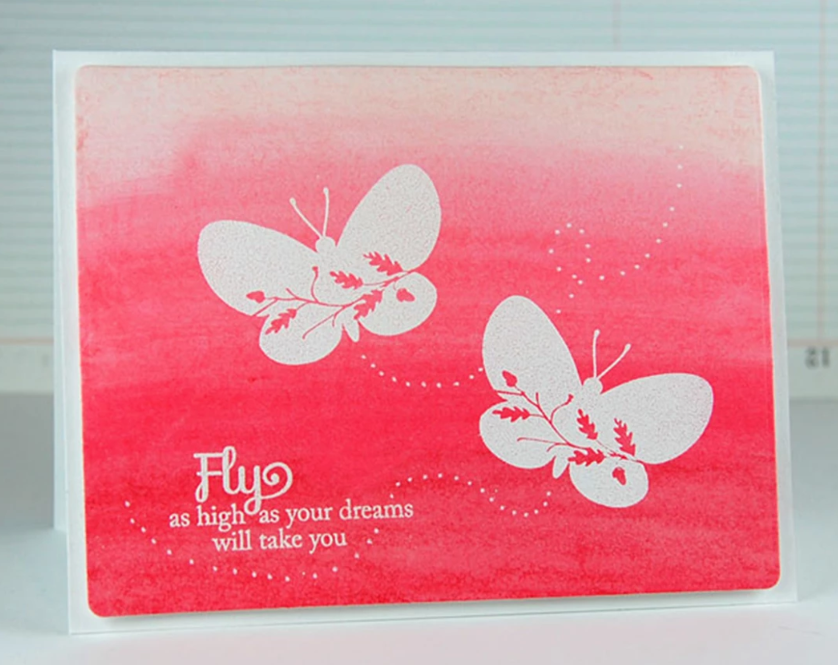 decorated butterfly card