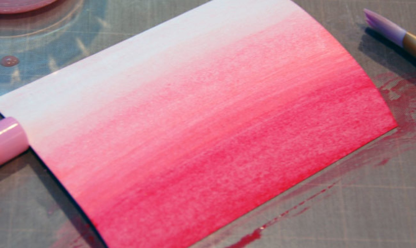 pink ombre card