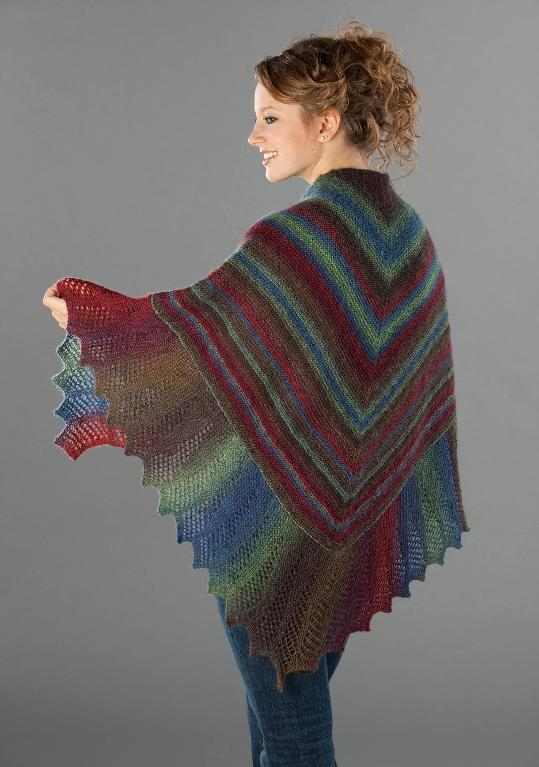garter stitch lace edge shawl