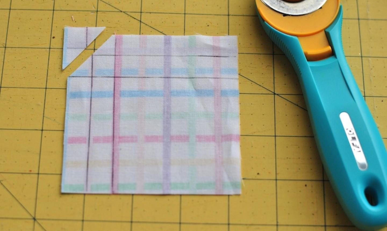 cut mitered napkin corner