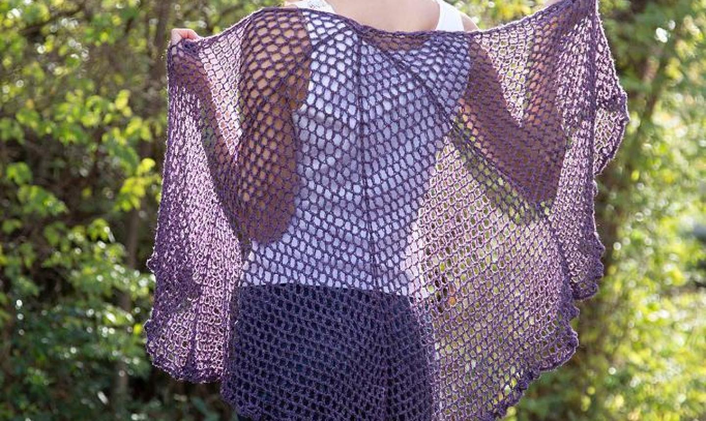 refracted lace shawl