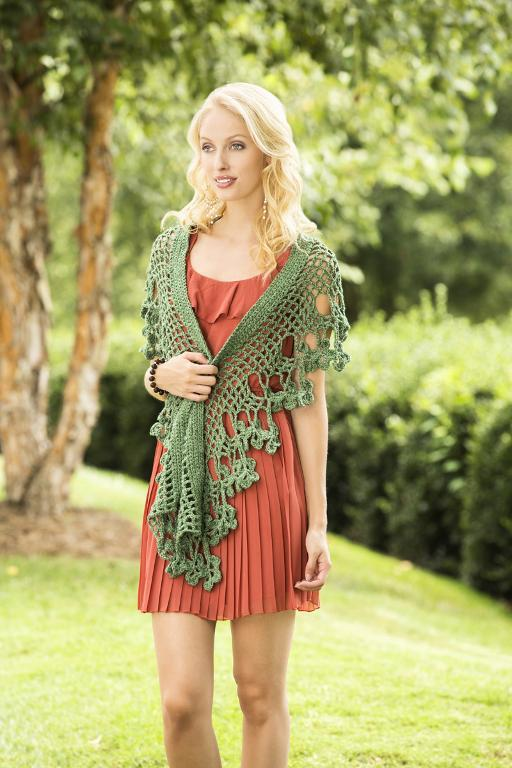 flowering herb shawl