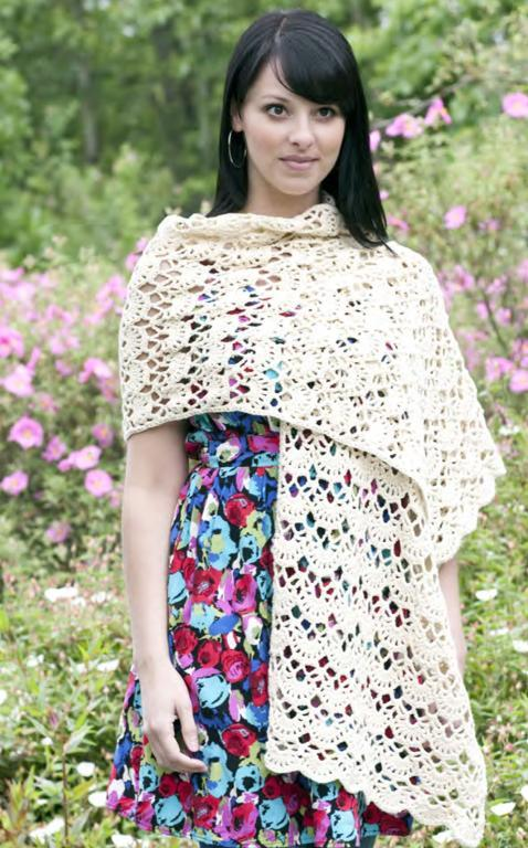 lacey arches stole crochet shawl