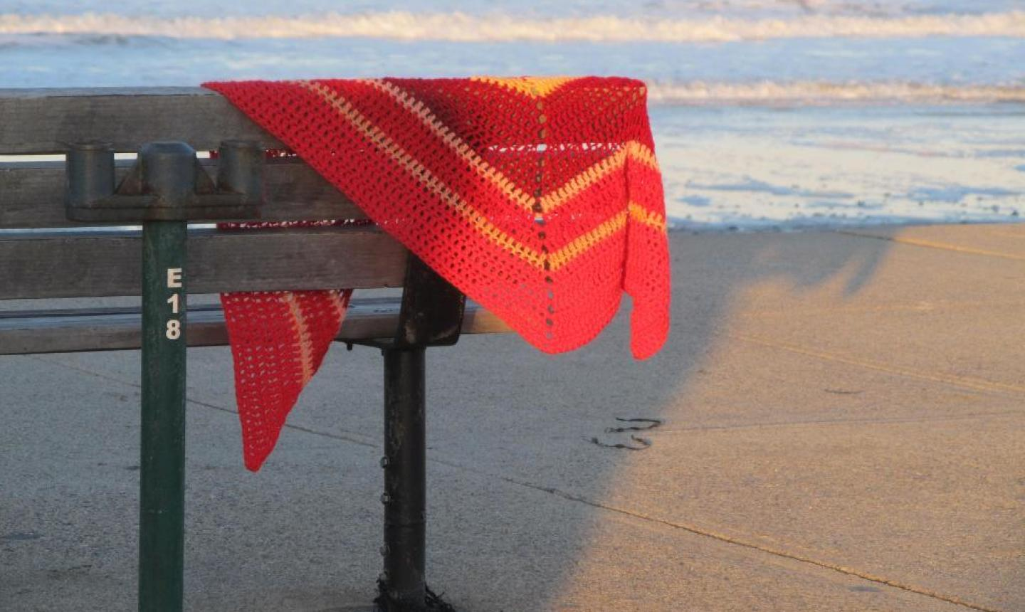 shawl at the beach