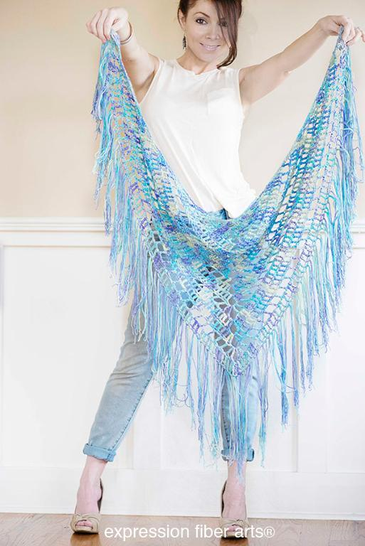 boho triangle shawl