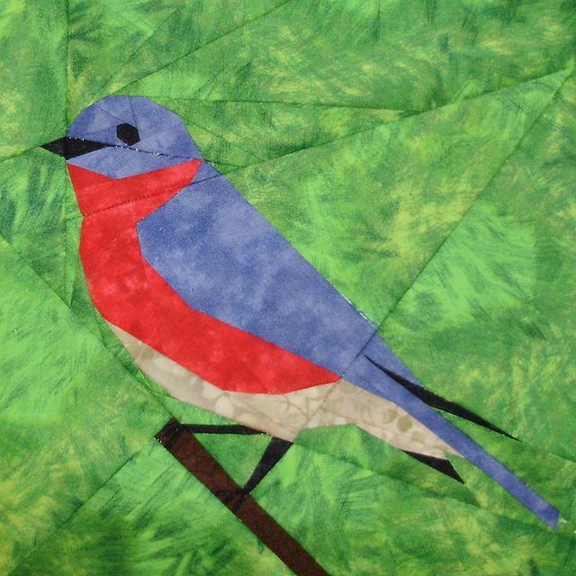 paper pieced bluebird
