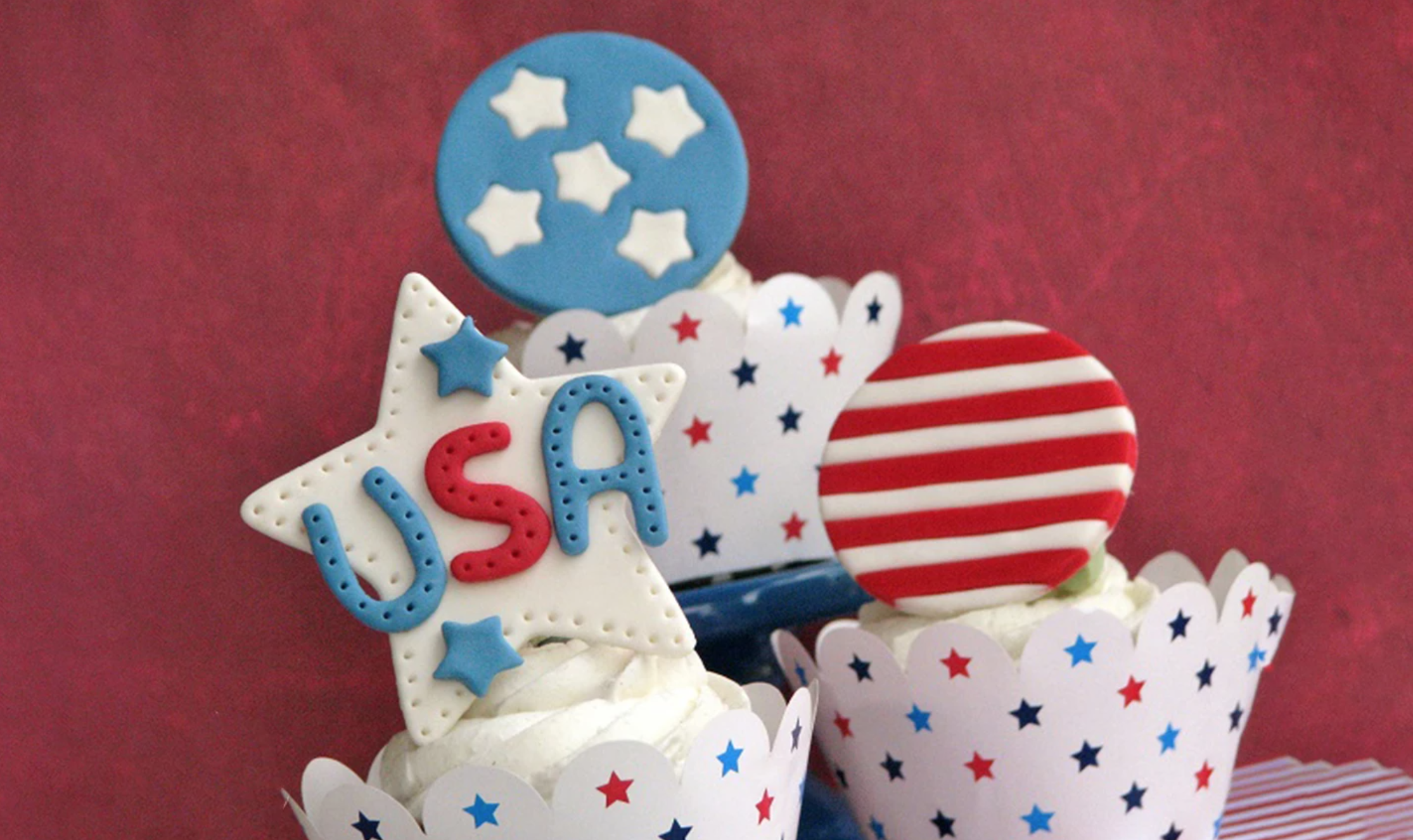 fourth of july cake toppers