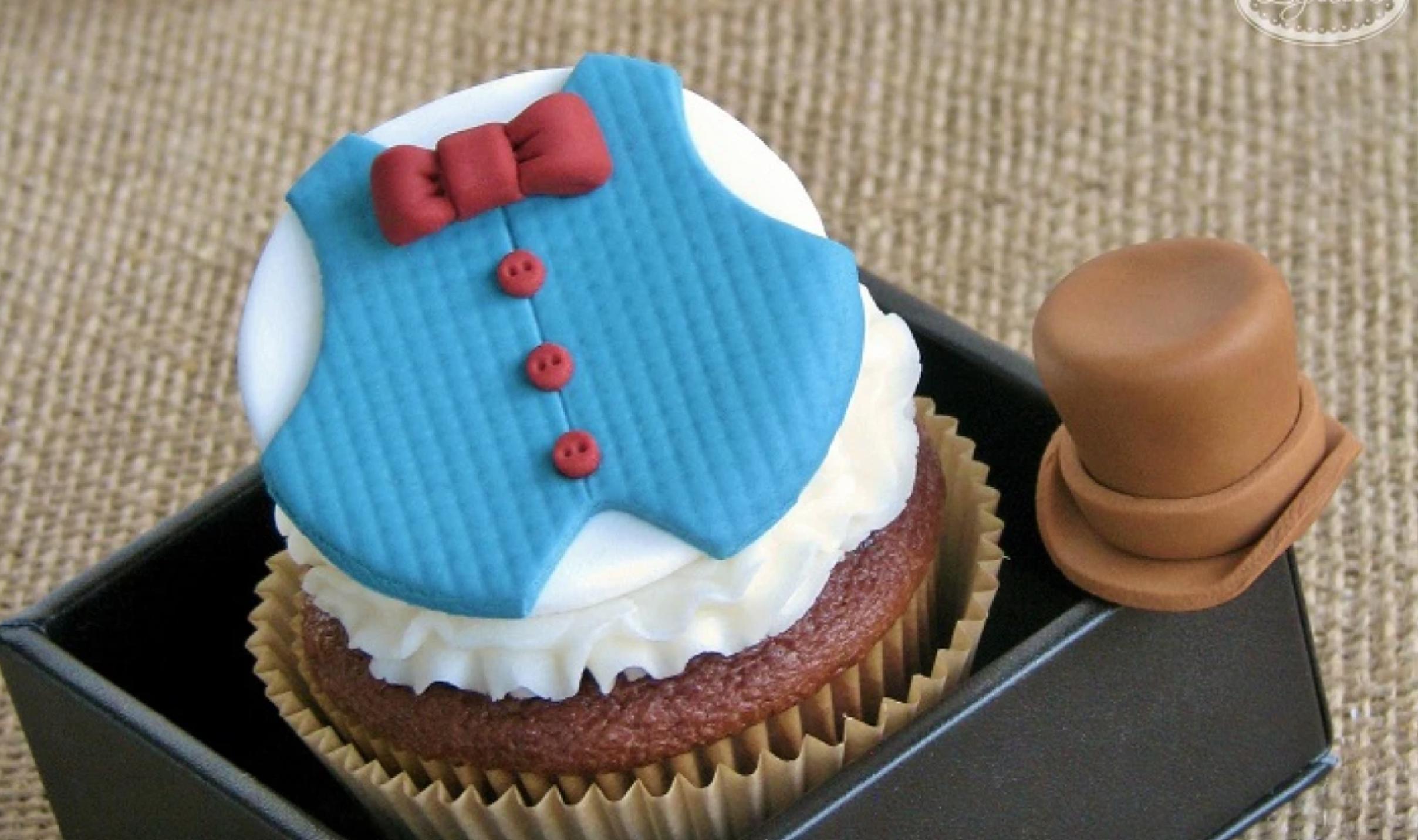 dapper cupcake topper