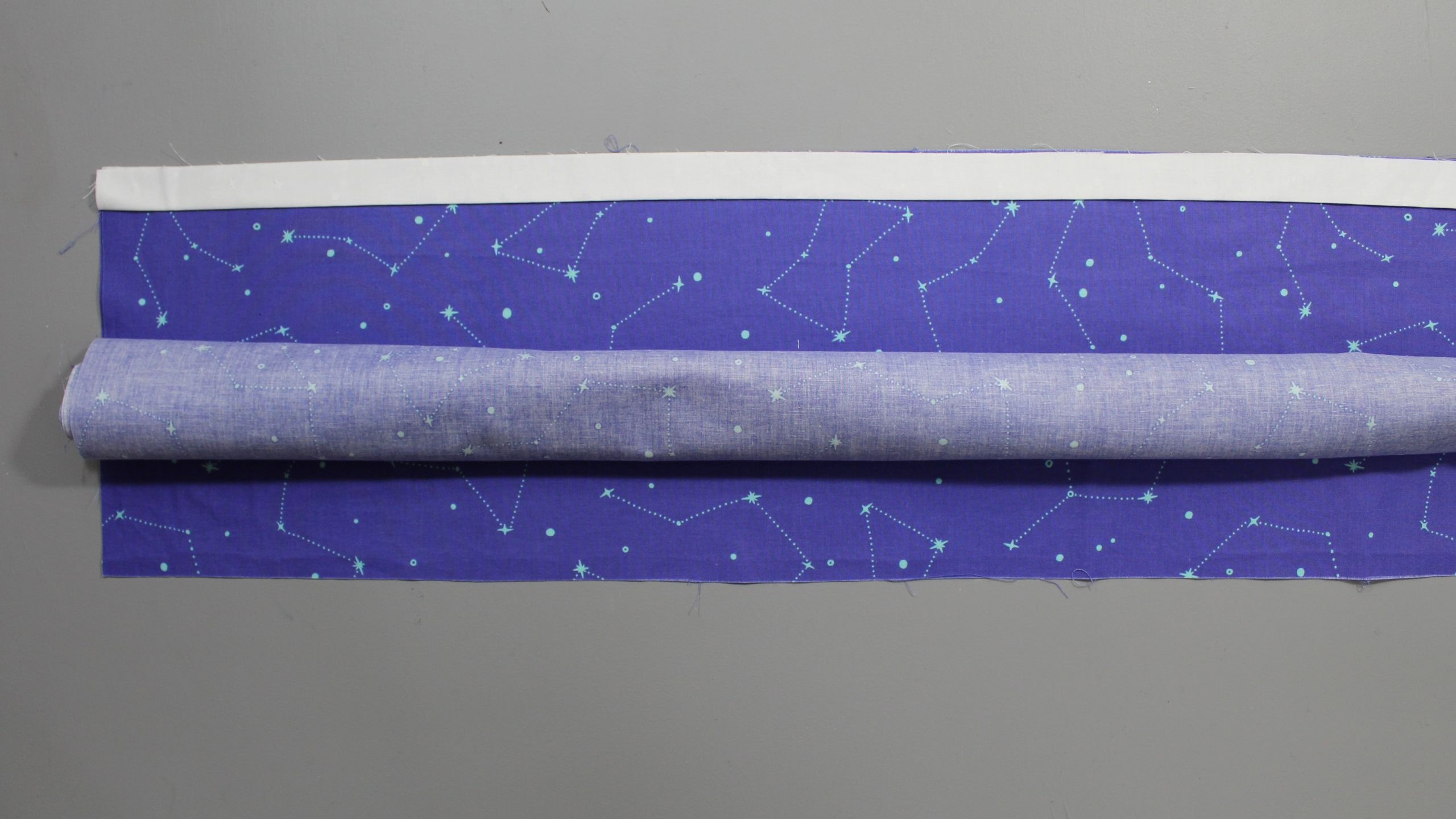 Rolled up constellation fabric