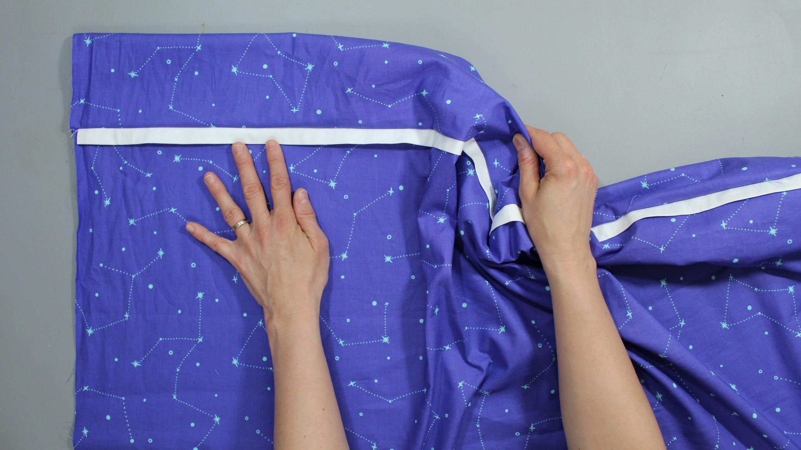 Opening sewn constellation fabric