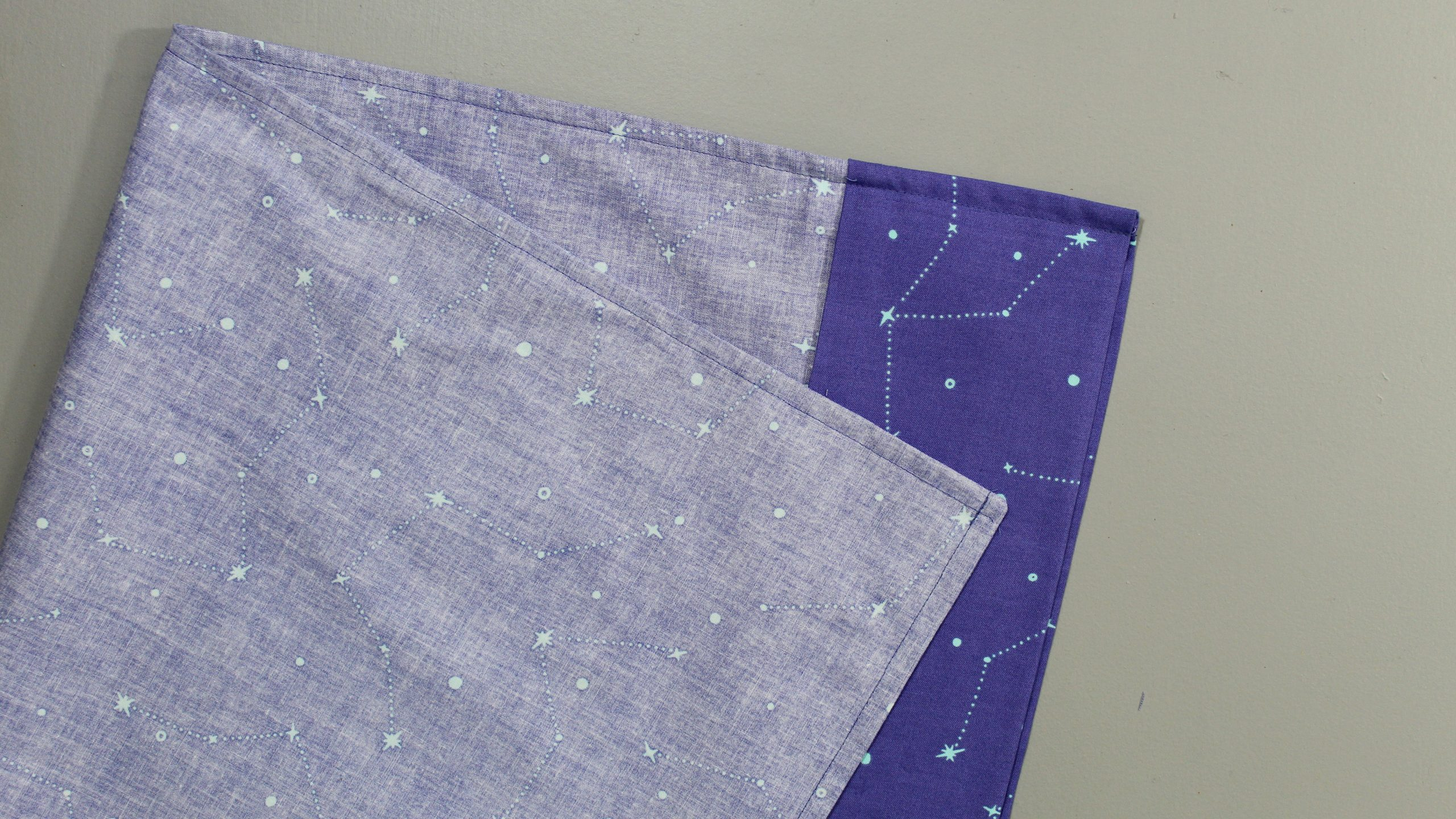 Inside out constellation fabric pillowcase