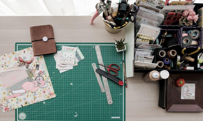 paper craft station