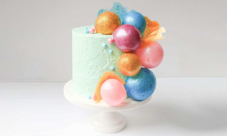 gelatin bubble cake