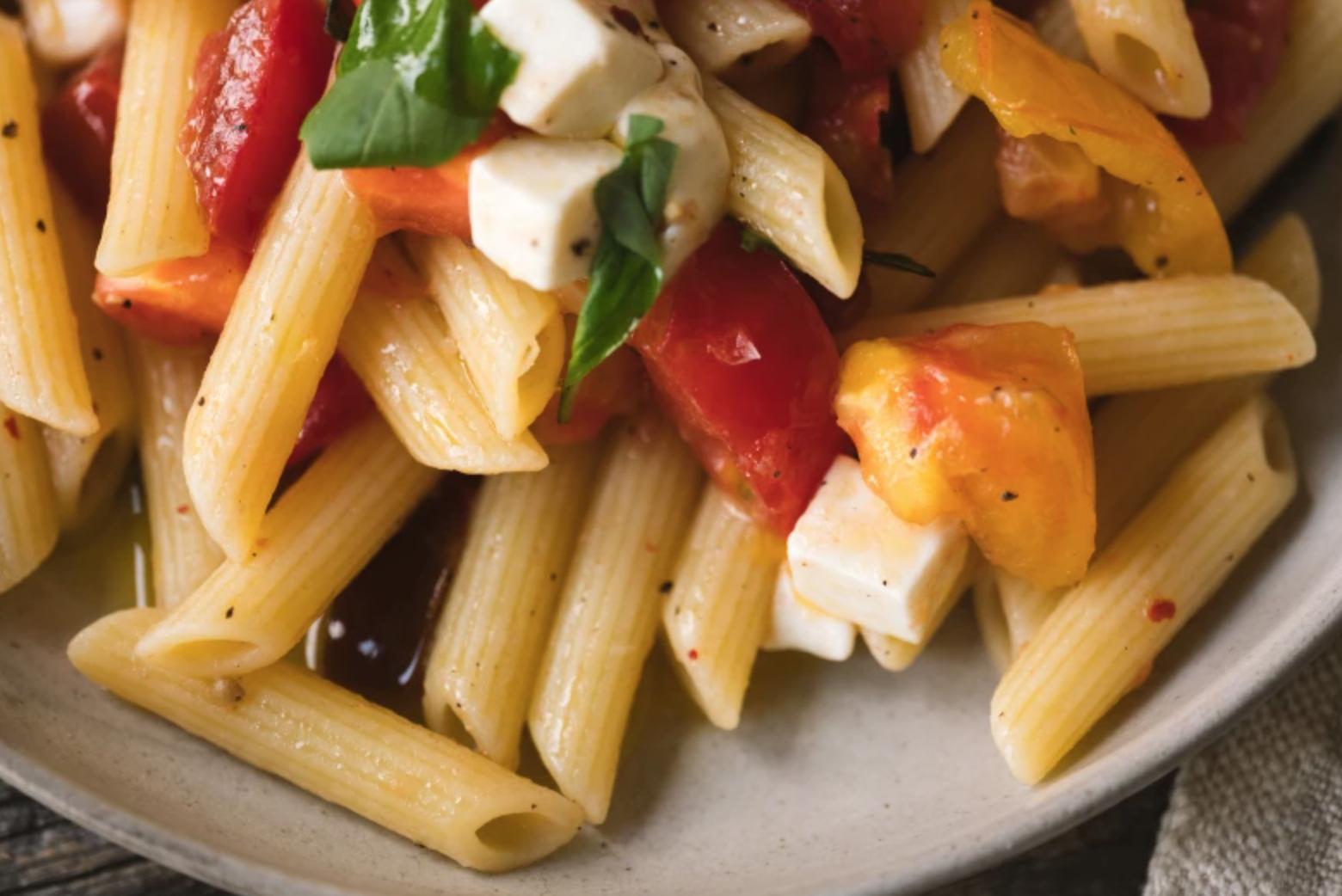 penne pasta dish