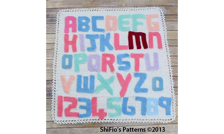Crochet alphabet letters