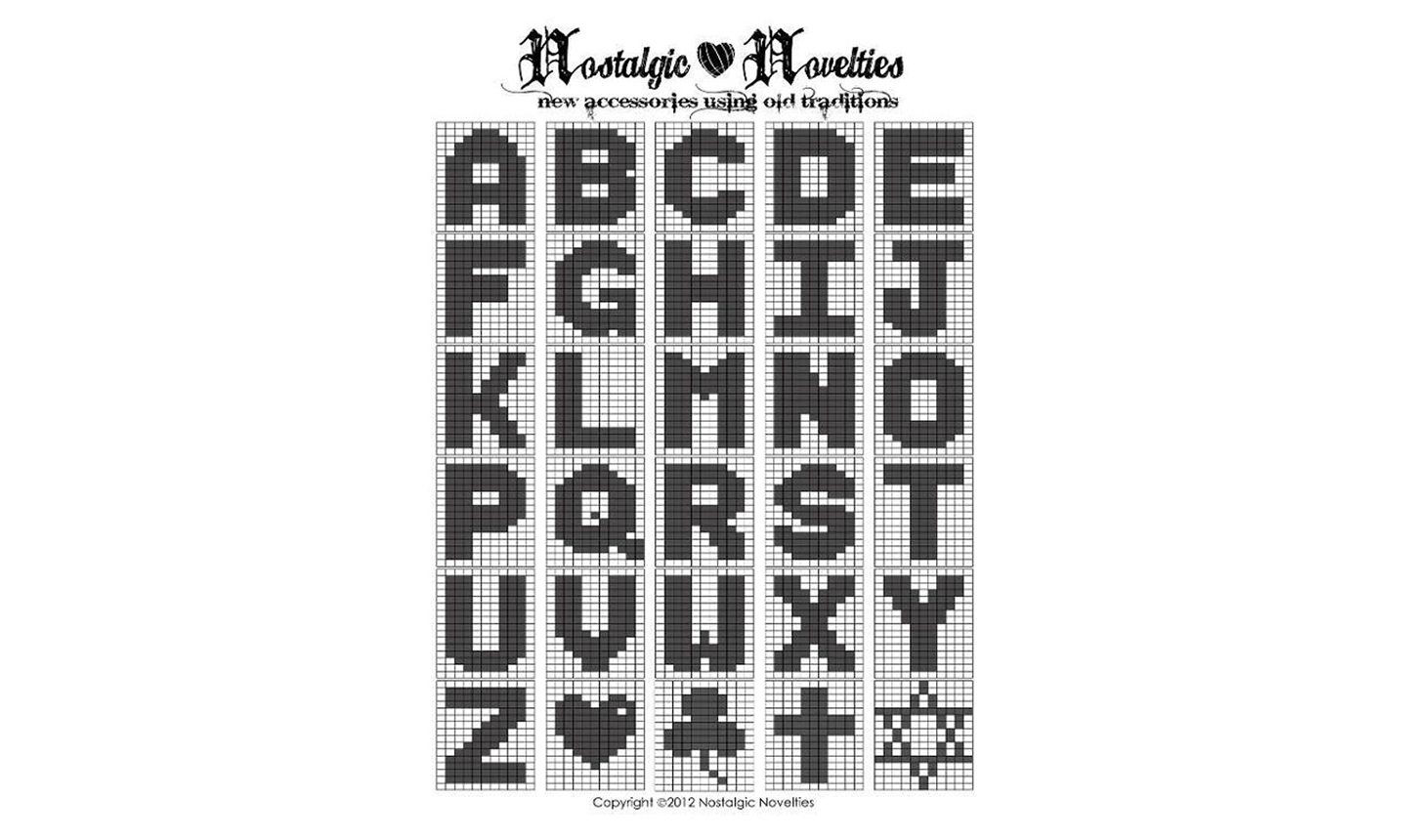 Black and white alphabet letters