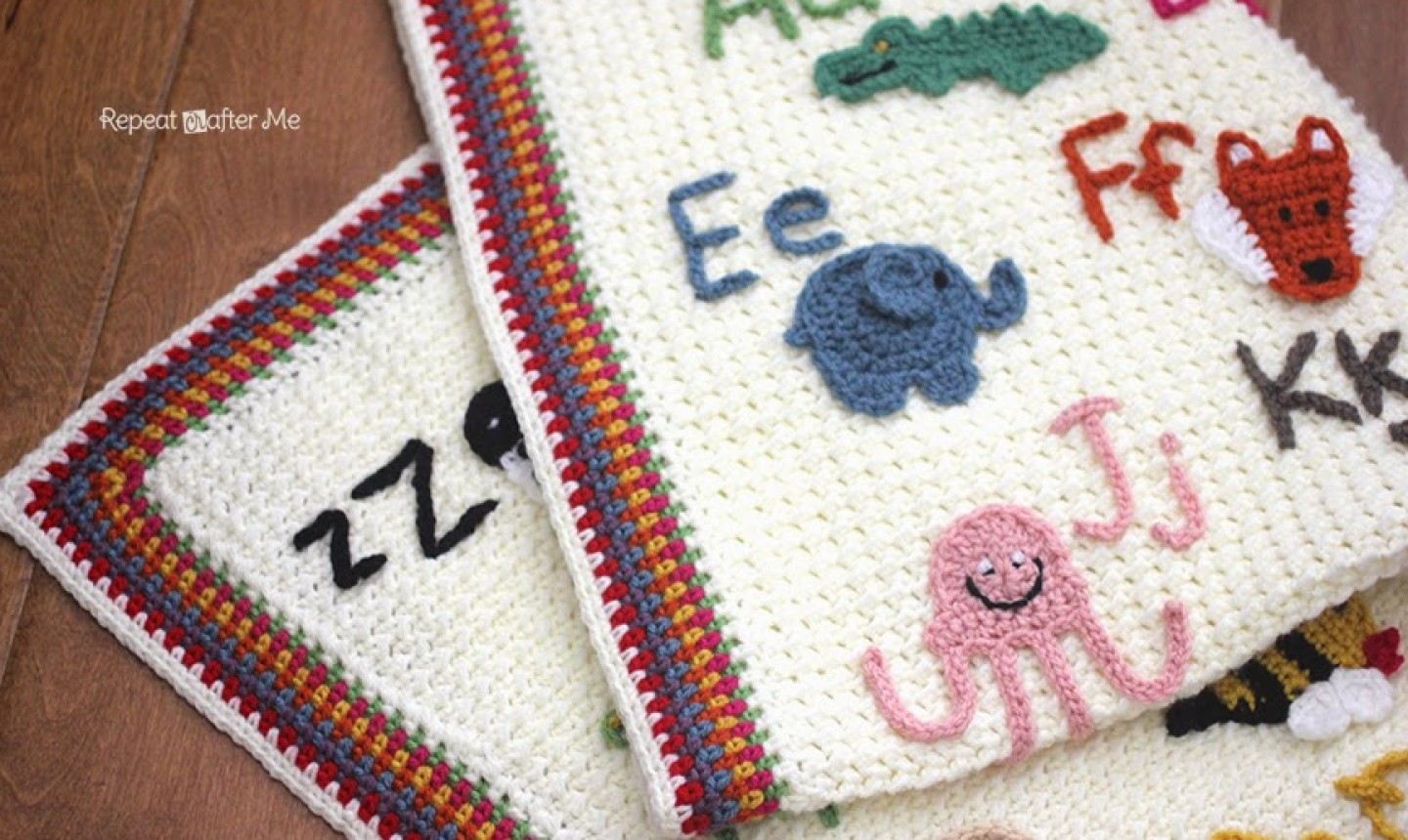 Crochet letters and pictures