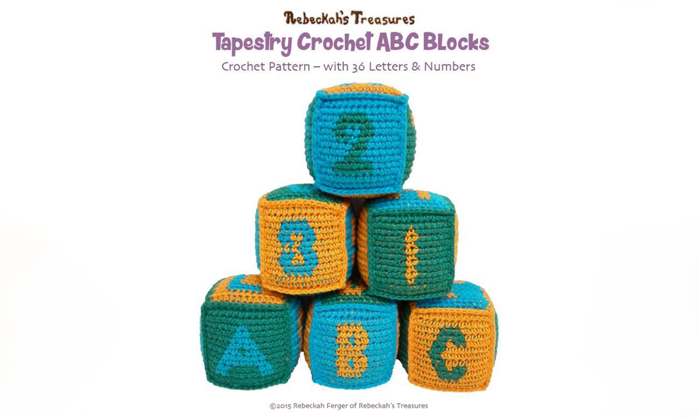 Crochet alphabet blocks