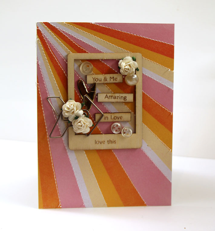 card with wood