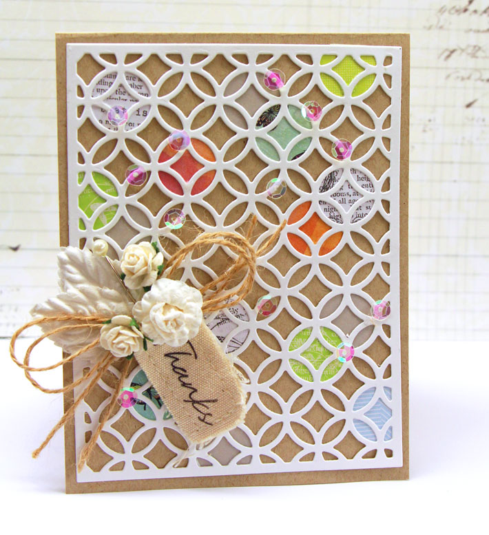 card with paper flower