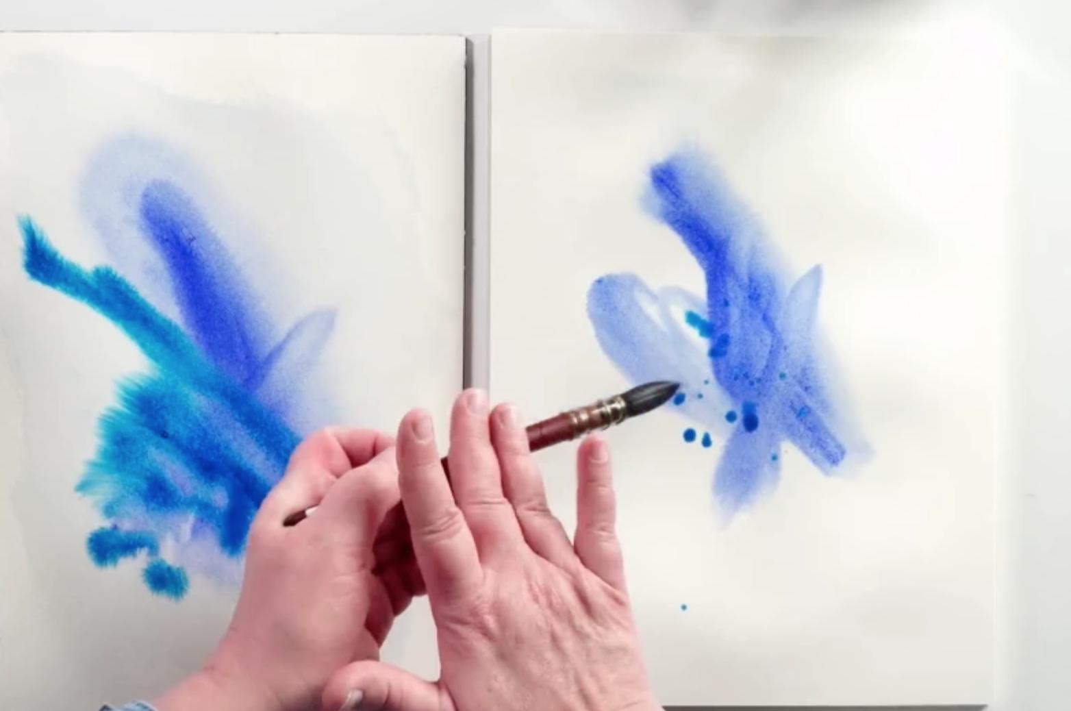 splattering watercolor paint