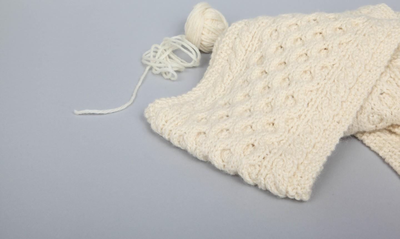 honeycomb knit scarf