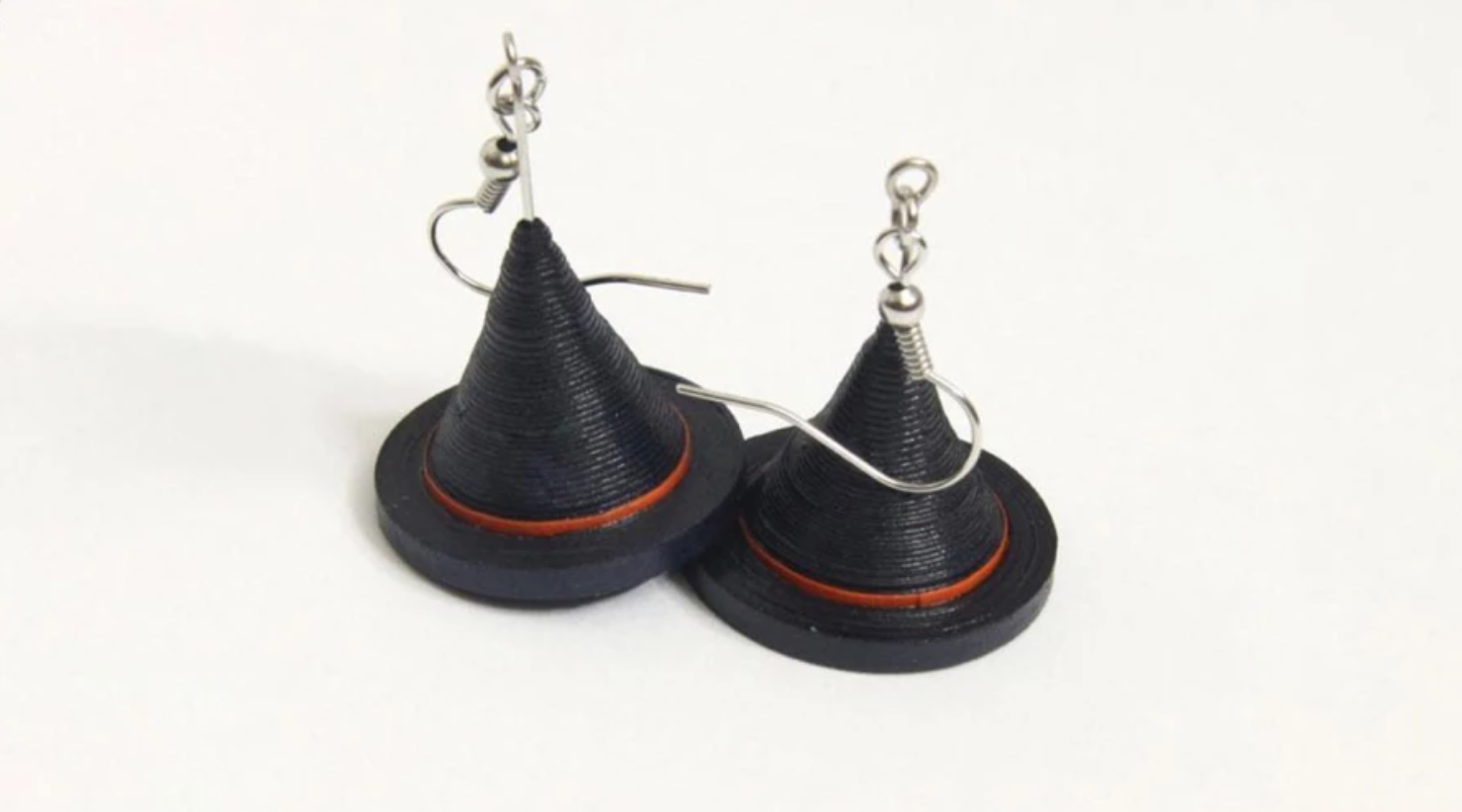 quilled witch hat earrings