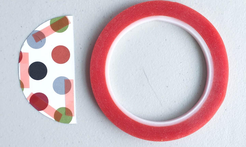 Half circle and tape