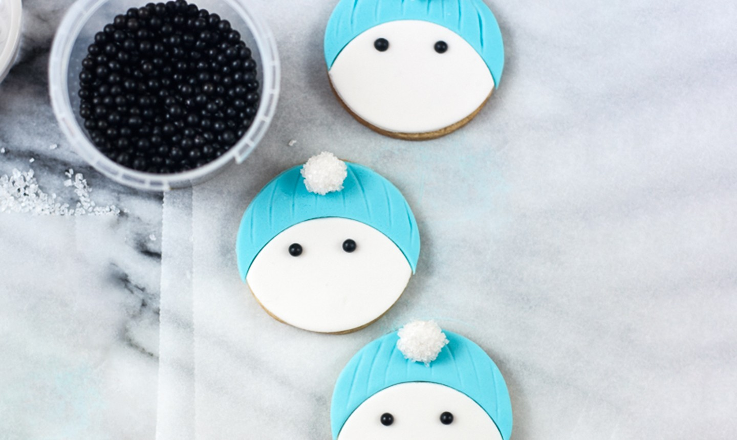 snowman cookie eyes