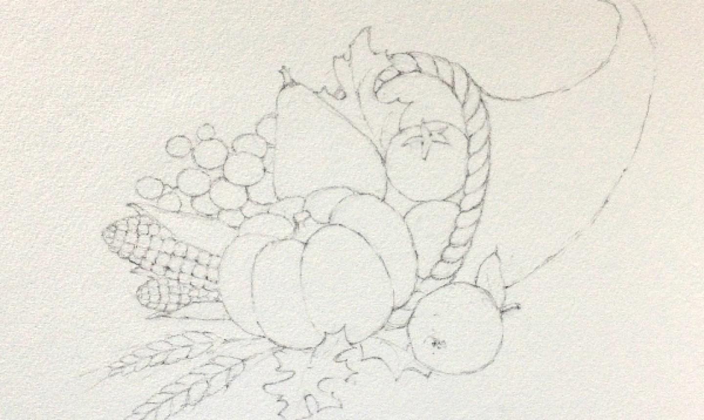 Cornucopia sketch