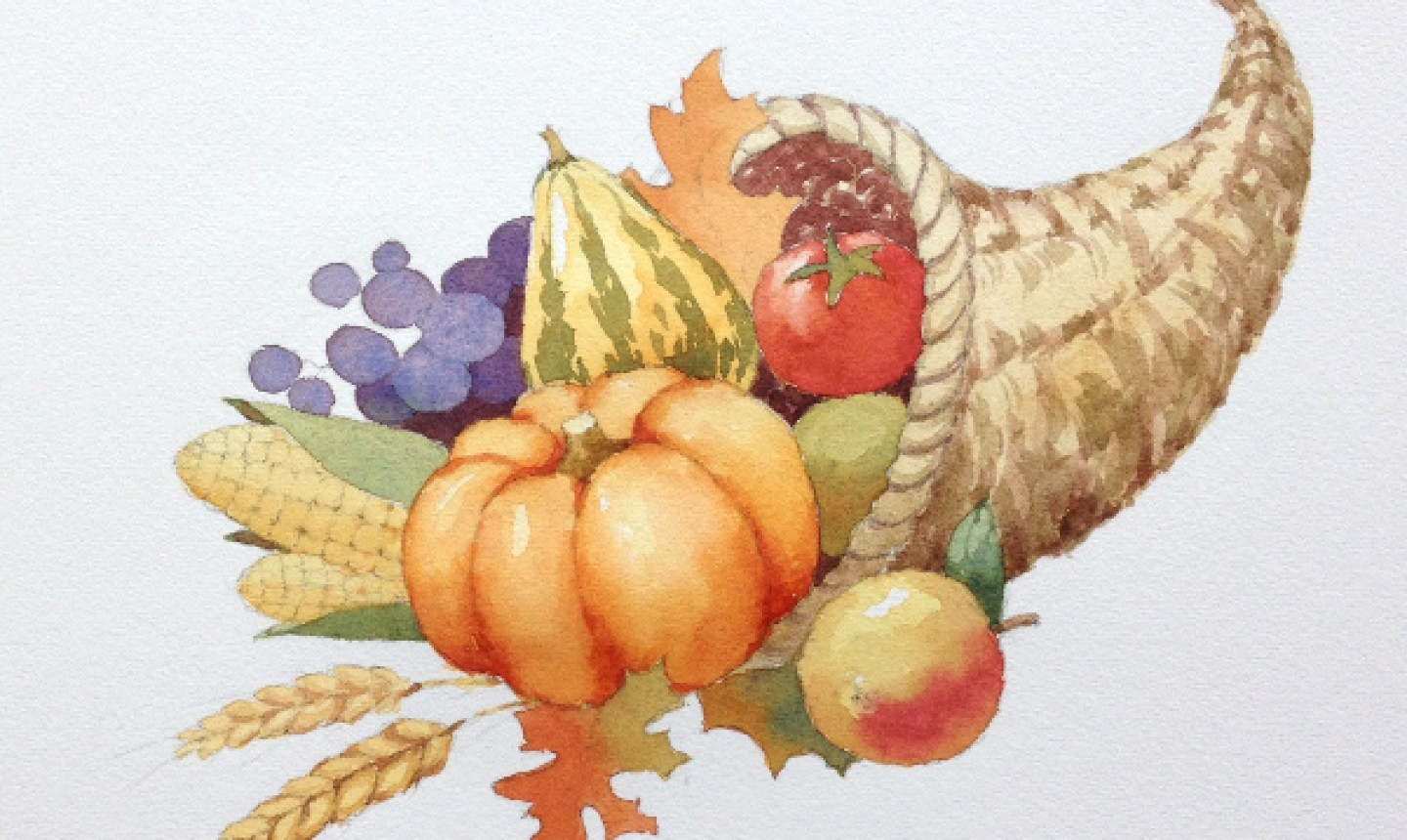 Details added to painted cornucopia
