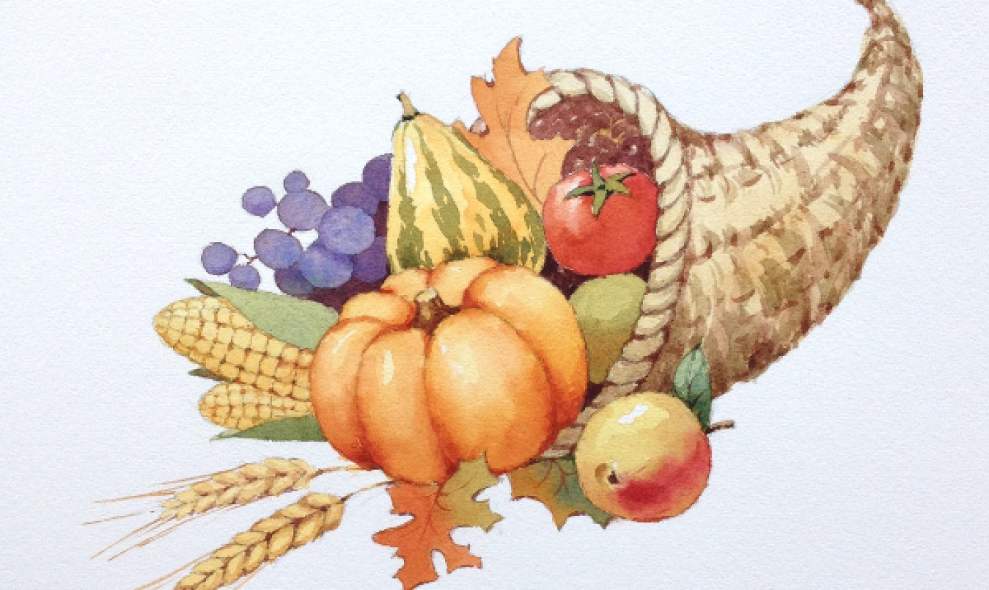 Completed cornucopia painting