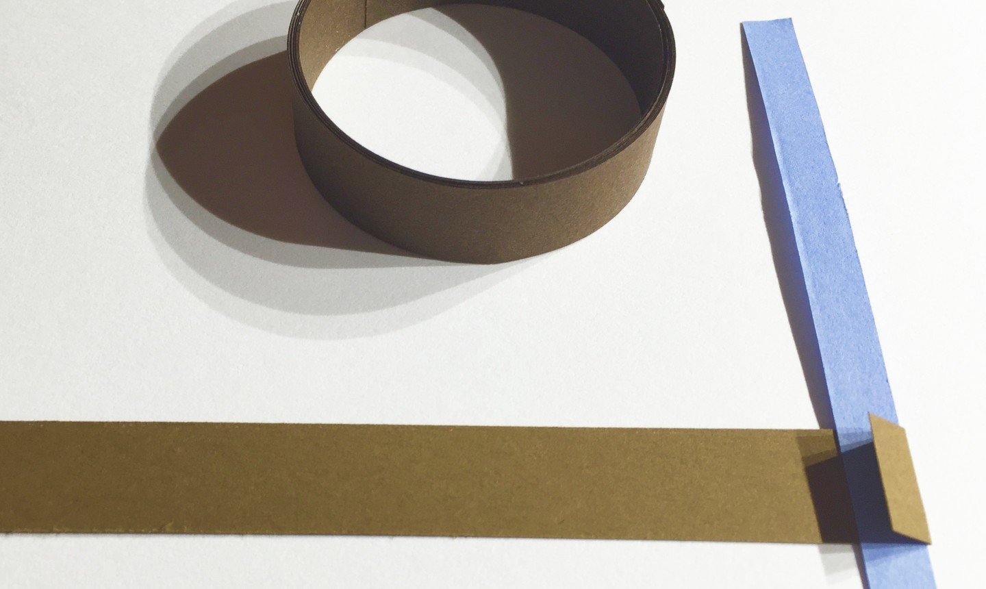 Brown and blue strip