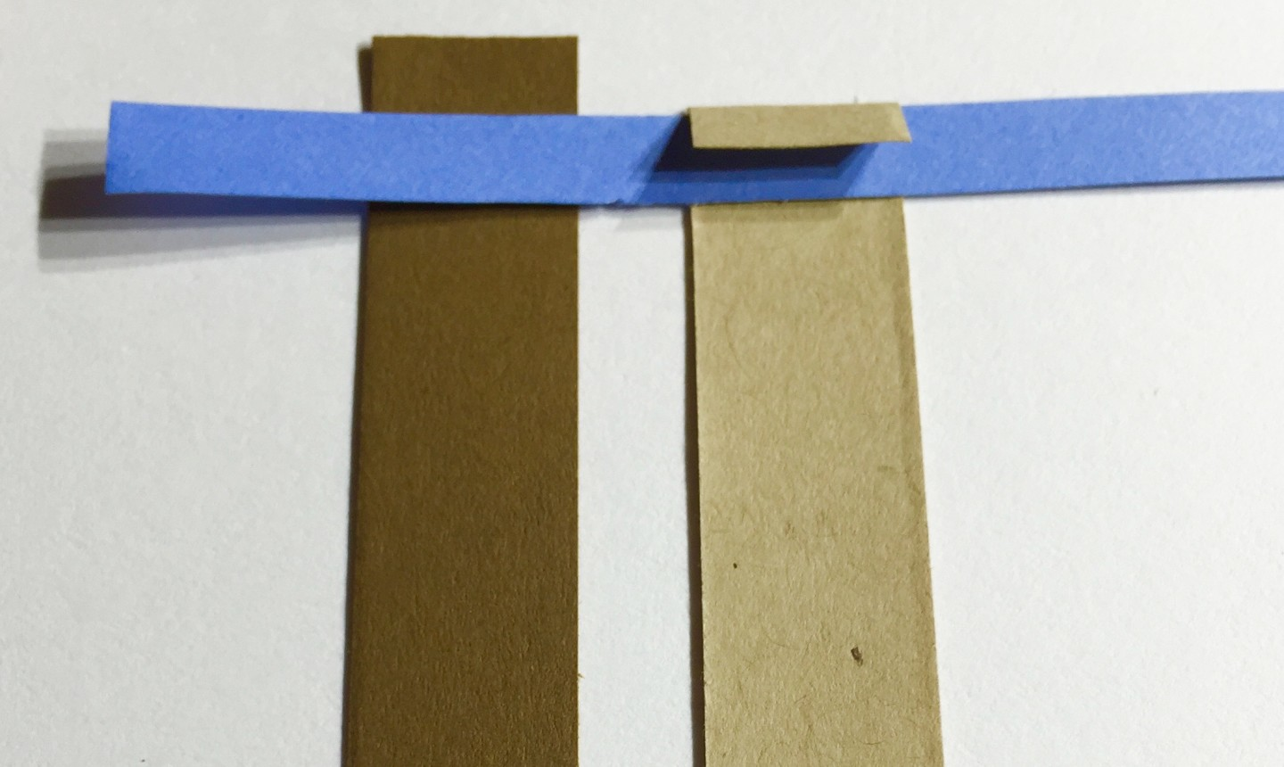 Three cut quill papers