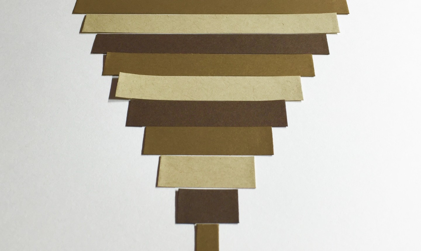 Layers of brown quill strips