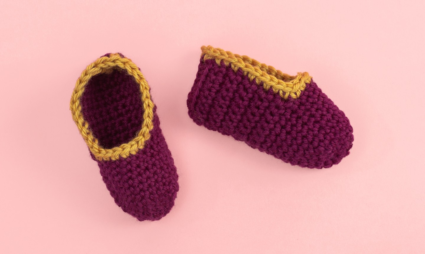 maroon and gold baby crochet booties