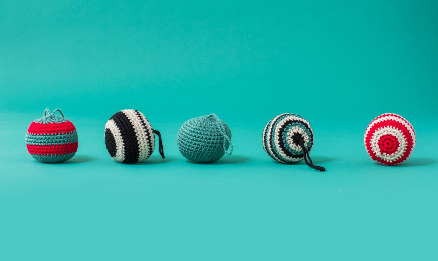 crochet round ornaments