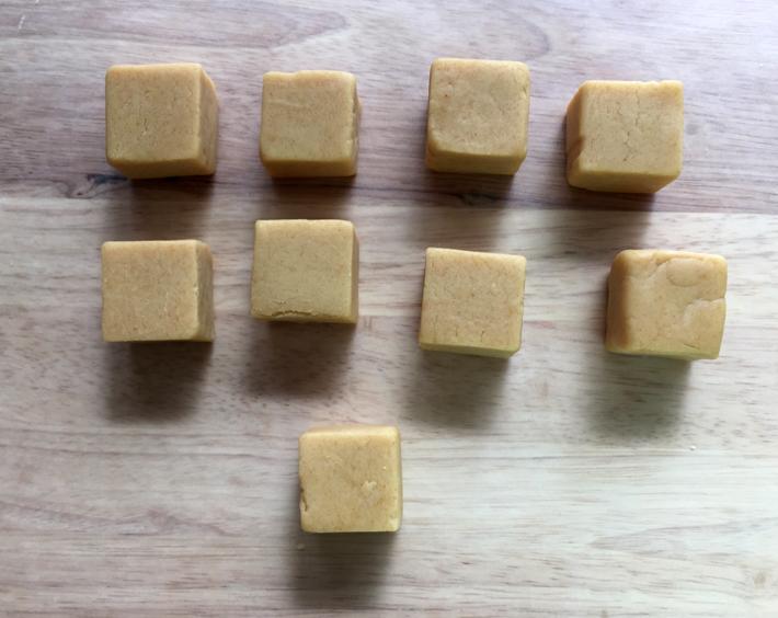 square cake pop dough