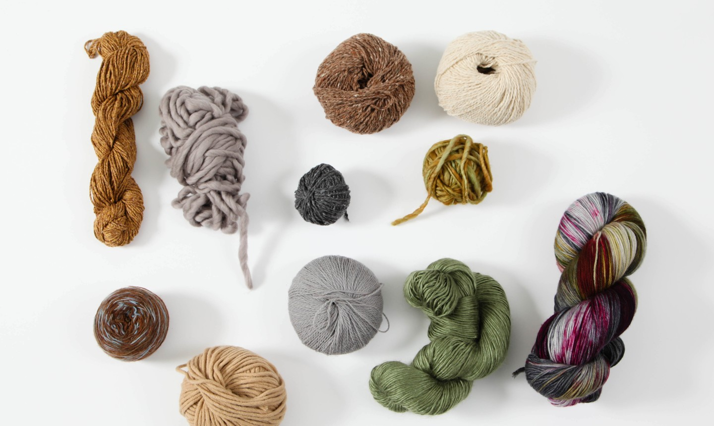 skeins and balls of yarn