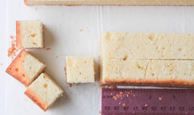 cubing baked cake