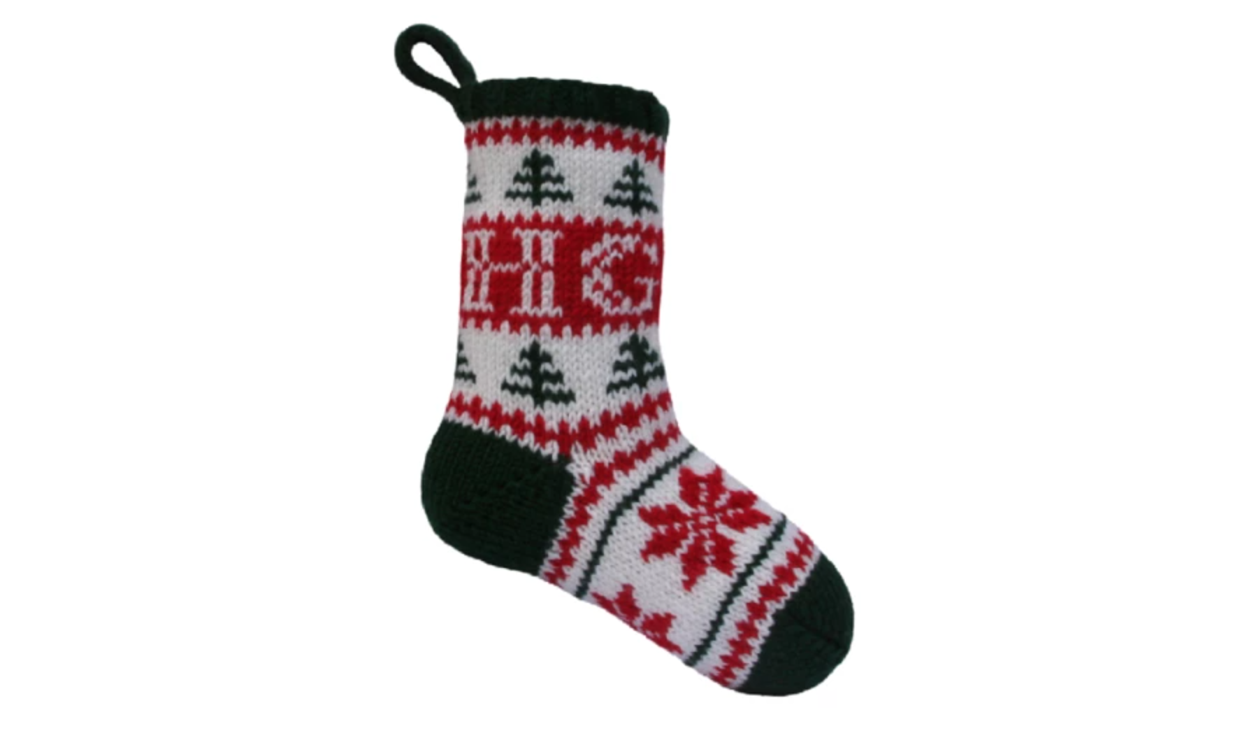 personalized initials christmas stocking