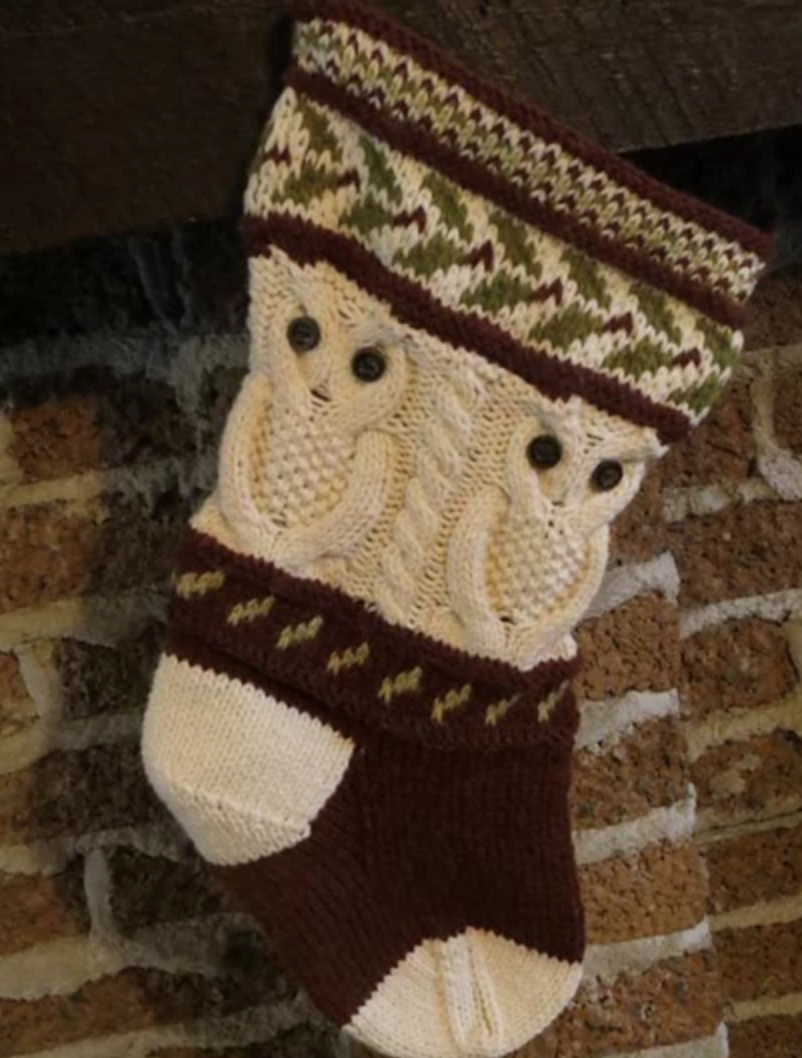 owl knit stocking