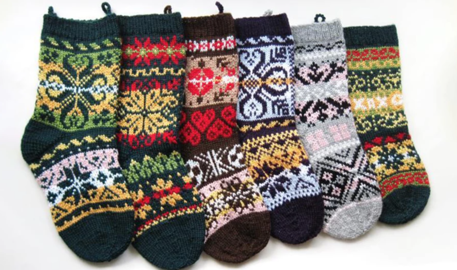 six knit stockings