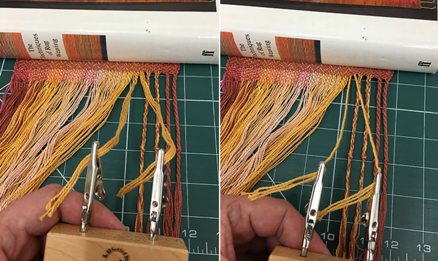 clipping and twisting scarf fringe