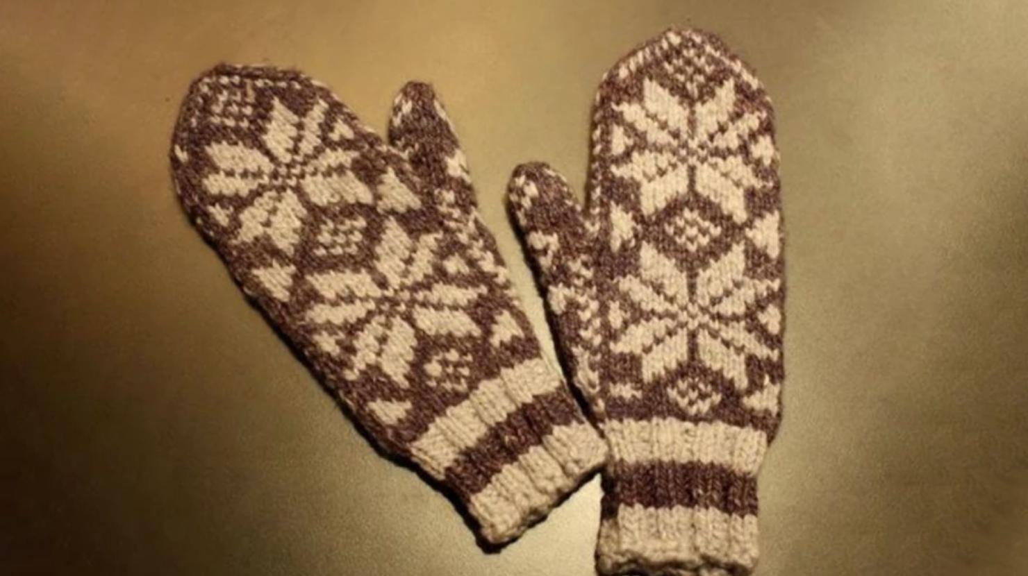 snowflake fair isle mittens